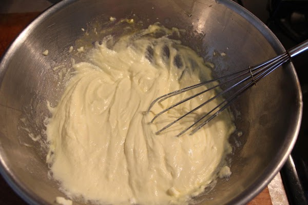 In large bowl, beat ricotta cheese and eggs until combined.