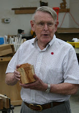 Photo: Russ Iler brought this lidded box in yew.