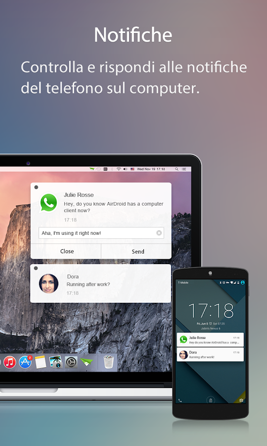 AirDroid: Android sul computer- screenshot