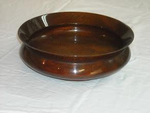 """Photo: 9"""" mahogany bowl"""