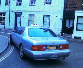 Photo: The medieval houses and streets of Louth, but it's not often you see a V6 taxi in these parts, and a Lexus at that. This one sporting a 1995 plate. http://en.m.wikipedia.org/wiki/Lexus_LS