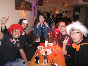 Photo: Customers at the Halloween Party in Ola Tacos Bar, in Shinsaibashi, Osaka  Taken at Ola Tacos Bar (http://homepage2.nifty.com/olatacos/) Taken by Be & Me (http://www2.gol.com/users/be-n-me/)
