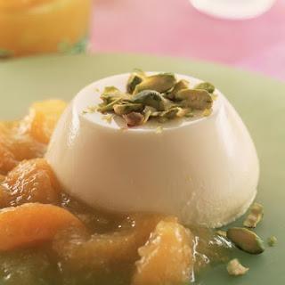 Cardamom Panna Cotta with Apricot Sauce.