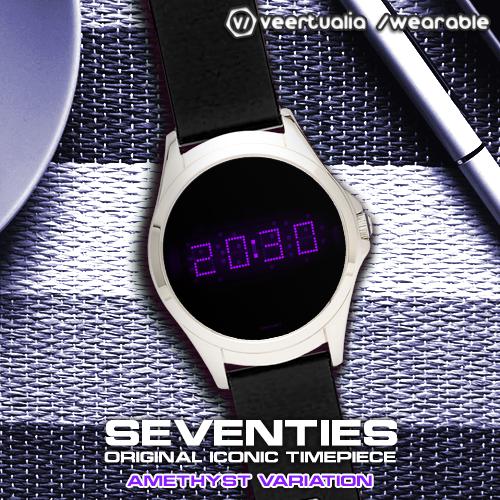 Download LED watch face   Vintage   Seventies Amethyst MOD APK 6