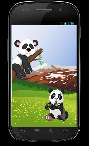 Funny happy panda jumper