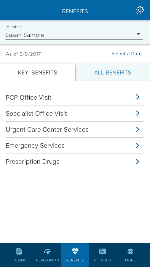 Tufts Health Plan- screenshot