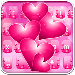 Pink Heart Crystal Keyboard