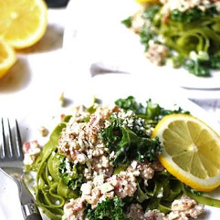 Carbonara-Inspired Greek Kale Pasta Recipe