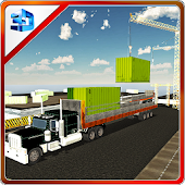 Cargo Container Delivery Truck