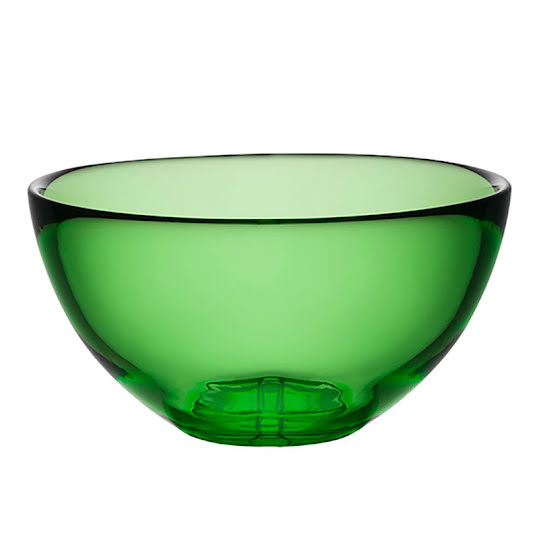 Kosta Boda Bruk Apple Green Medium Bowl
