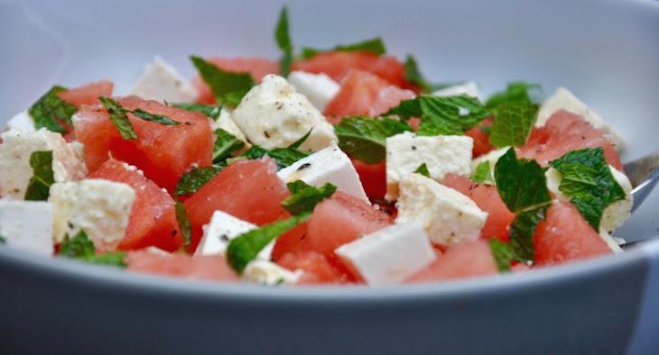 Fresh Watermelon, Feta and Mint Salad Recipe | Yummly