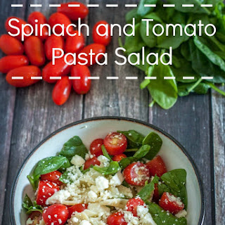 Spinach and Tomato Pasta Salad.