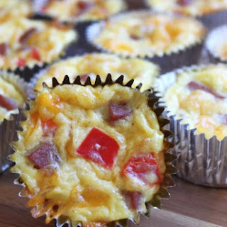 Ham, Egg and Cheese Breakfast Cupcakes.