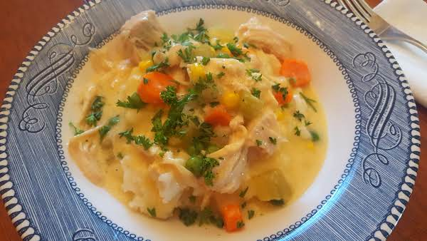 Super Easy Slow Cooker Chicken Stew