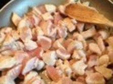 Add another tbsp. olive oil to the saute pan.  Add the chicken; sprinkle...