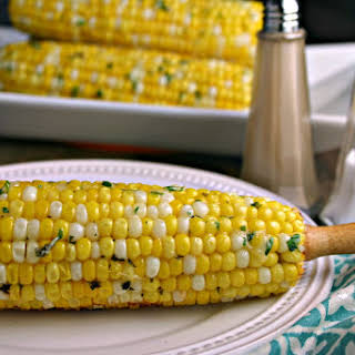 Easy Parmesan Grilled Corn.