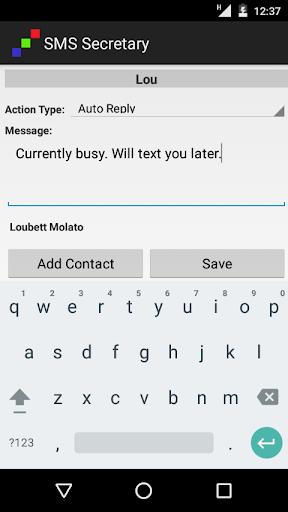 SMS Secretary