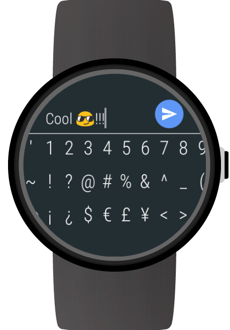 Keyboard for Android Wear- screenshot