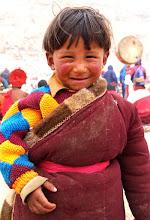 Photo: Tibetan boy at Saga Dawa