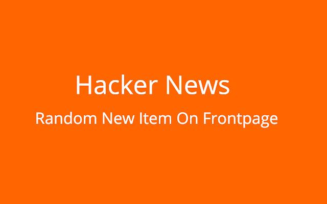 Random New Items in Hacker News Frontpage