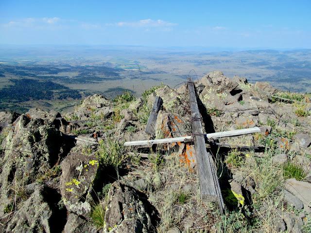 Old survey equipment at Geyser Peak