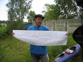Photo: Odrą płyną Neptuny, więc powieszę im coś takiego na moście w Bierawce