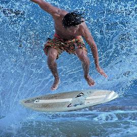 Airborne by Greg Knudsen - Sports & Fitness Surfing ( knudsen, surfing, honolulu, skimboarding, beach, hawaii,  )