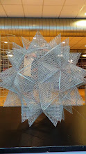 Photo: Stellated dodecahedron with folded hardware cloth, by Richard Harrington.