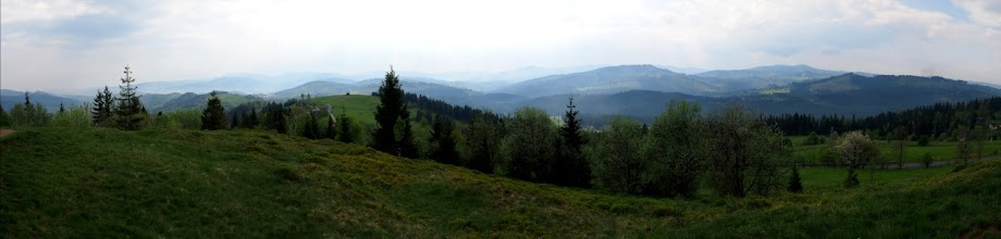 Photo: Panorama z widokiem na Beskid Żywiecki.