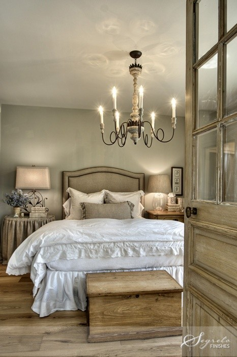 Plain Furniture in French Country Bedroom