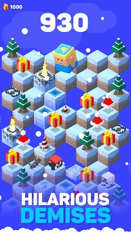 android Ice Hill: Endless Xmas Fun Screenshot 2