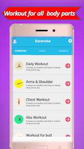 home workout exercise and yoga App Download For Android 1