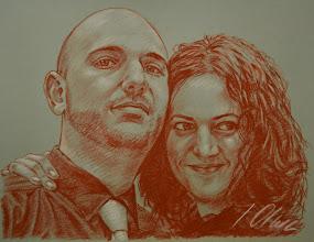 Photo: Isabel y Mario, retratos en sanguina
