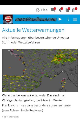 Unwetteralarm Deutschland  screenshots 1