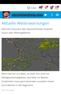 Unwetteralarm Deutschland- screenshot thumbnail
