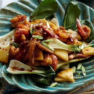 Tamarind, Pineapple Chicken And Prawns