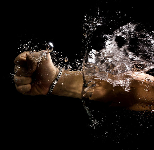 splash by Paul Phull - Abstract Water Drops & Splashes ( water, hand, splash, power., arm )
