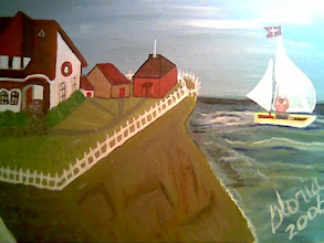 Photo: House on Cliff Bay, oils, painted at Aurora Co 80011, photographed in Denver Co 80203, 2006,oils