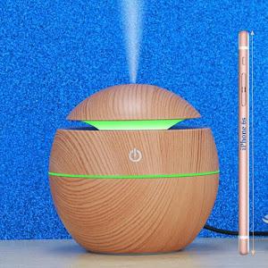 Umidificator de aer cu ultrasunete, Aromaterapie cu LED, 130 ml