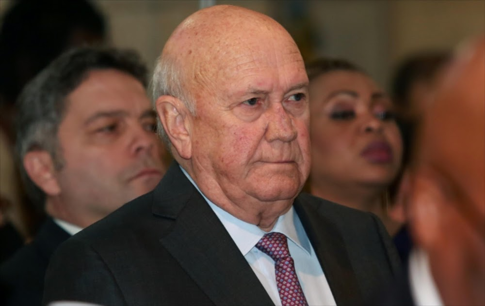 OPINION | De Klerk, time was always going to unmask your truth
