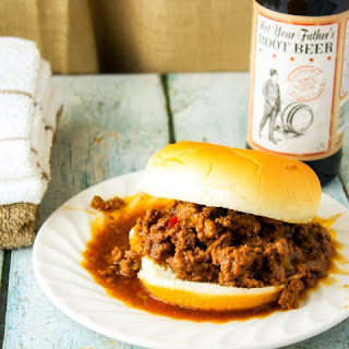 Hard Root Beer Sloppy Joes
