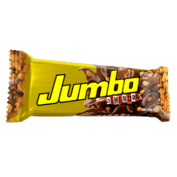 Chocolatina JUMBO con   Leche Almendras x100g