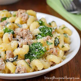 Easy Turkey Broccoli Pasta Dinner.