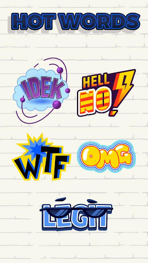 FREE-ZCAMERA HOT WORDS STICKER Screenshot