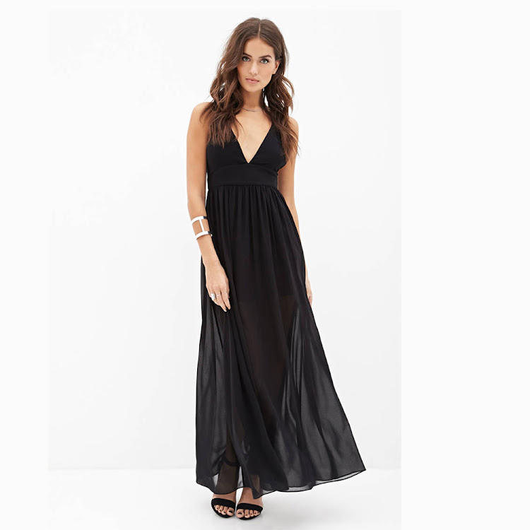 Black Sexy Maxi Dress by Stylo Kids Trading