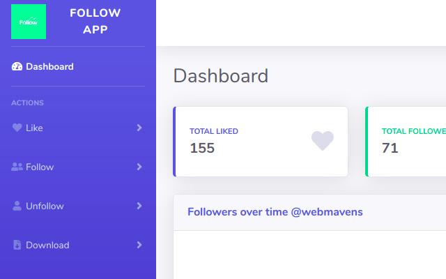 Follow App By Web Mavens