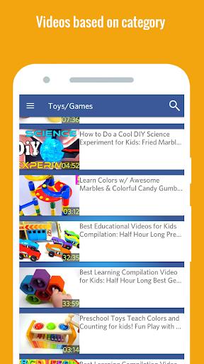 KidVid - Kids YouTube Videos 9.0 screenshots 5