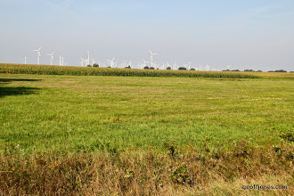 Photo: Wind turbines on mass