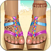 Games Decorating beach sandals