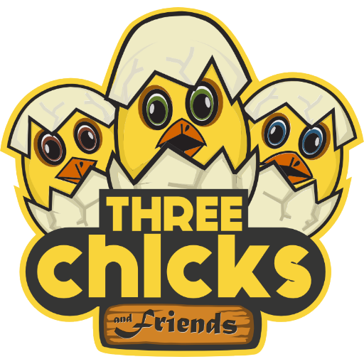 Three Chicks and Friends